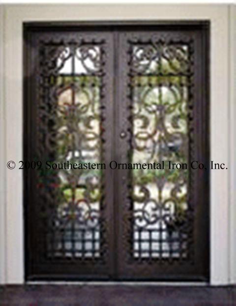 Wrought Iron Entry Doors,Custom Iron Doors, Security Doors ...