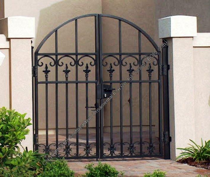 Walk gates garden courtyard security