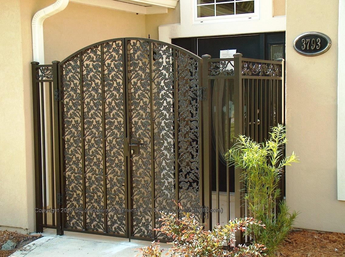 ... Custom House Gate (#WG 22) Aluminum Garden ...