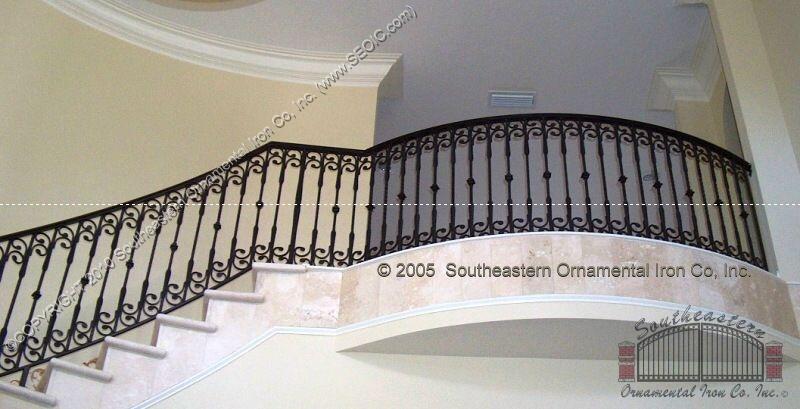 ... Wrought Iron Stair Railing (#SR 3) ...