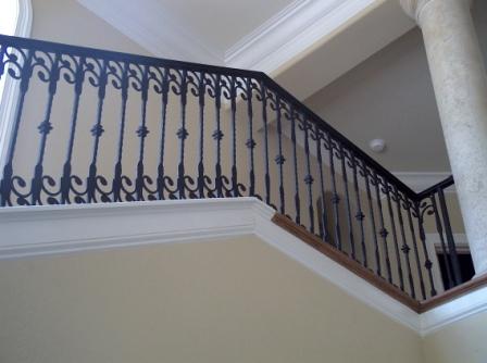 ... Wrought Iron Stair Rail Wrought Iron Stair Railing ...