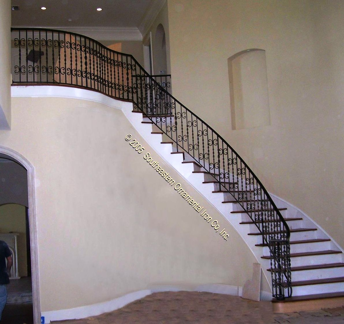 Merveilleux ... Wrought Iron Stair Rail (#SR 11) ...