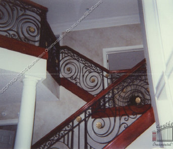 ... Wrought Iron Stair Railing Image ...
