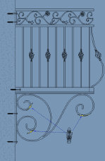 Southeastern Ornamental railing