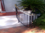 Porch Railing\Iron-Porch-rail-with-Brass-Cap(#PR-30)