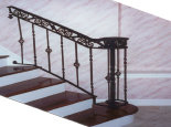 Railing w/ scroll frieze & basket balusters (#PR-15)