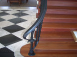 Wrought Iron Rail w/ Lambs Tongue Turn Out (#17)