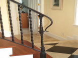 Wrought Iron Rail w/ Lambs Tongue